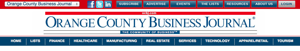 Orange County Business Journal Header