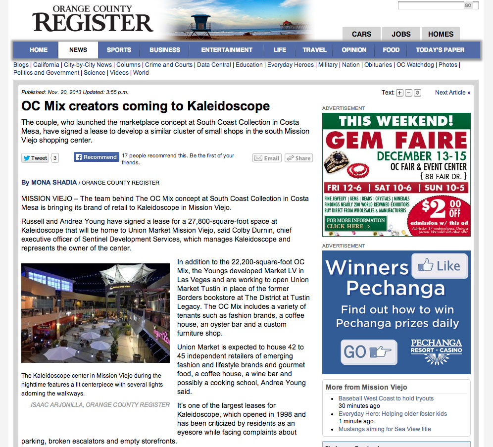 Orange County Register kaliedscope